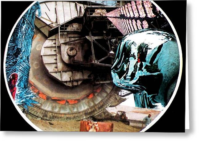 Machinery Mixed Media Greeting Cards - 24 Port Hole Collage Series One Number Twenty Four Greeting Card by Gabe Art Inc