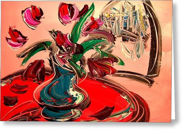 Tulips Greeting Card by Mark Kazav