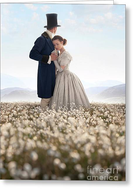 Victorian Couple Greeting Card by Lee Avison