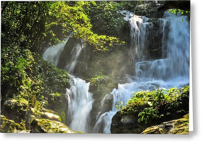 Waterfall Scenery Greeting Card