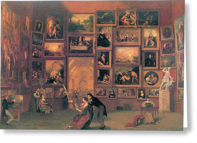 Gallery Of The Louvre Greeting Card by Samuel Morse