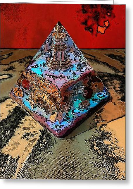 Abstract Orgone Greeting Card