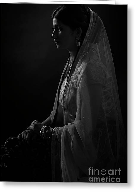 Portrait Of Indian Lady Greeting Card