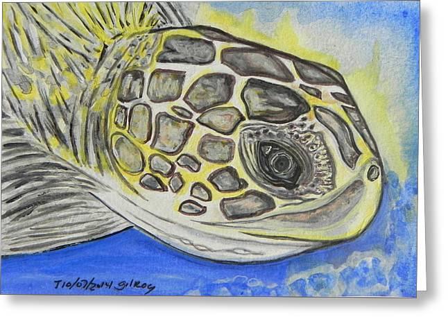 Sea Turtle Greeting Card by W Gilroy