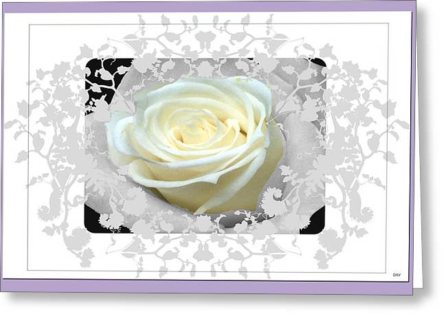 Vision Of Loveliness Greeting Cards - Wedding Rose Collection  Greeting Card by Debra     Vatalaro
