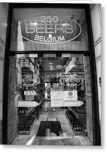 250 Belgian Beers Greeting Card