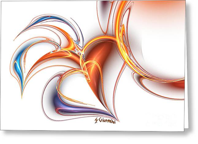 252-hearts In Love Greeting Card