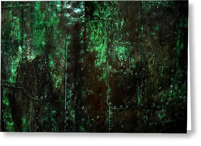 2525 Ad Copper Wall 01 Greeting Card by Nilla Haluska