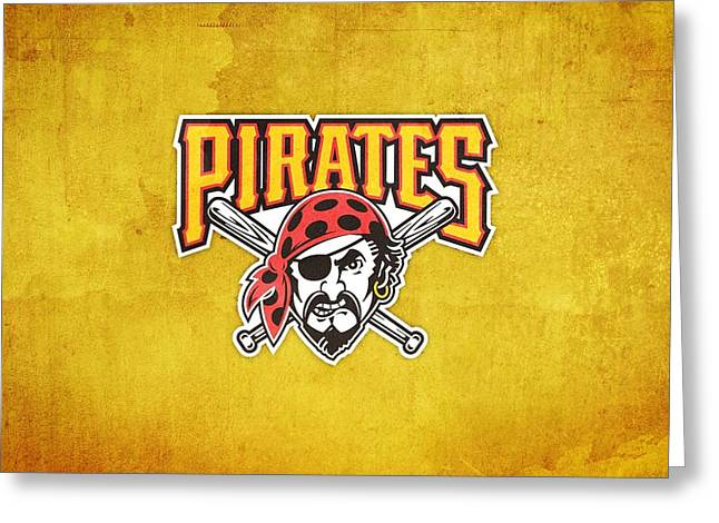 25554 Sports Pittsburgh Pirates  Greeting Card by F S