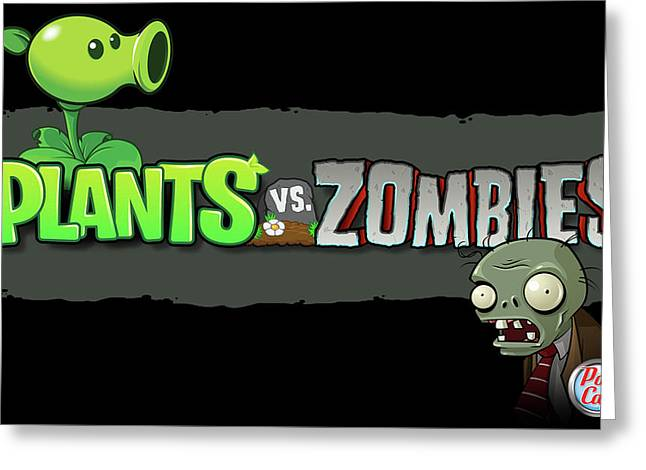 25760 Video Games Plants Vs Zombies  Greeting Card