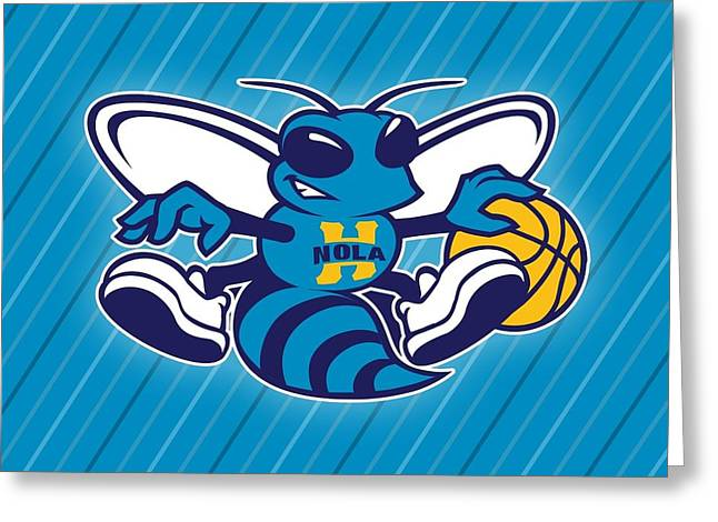 25818 Sports New Orleans Hornets  Greeting Card