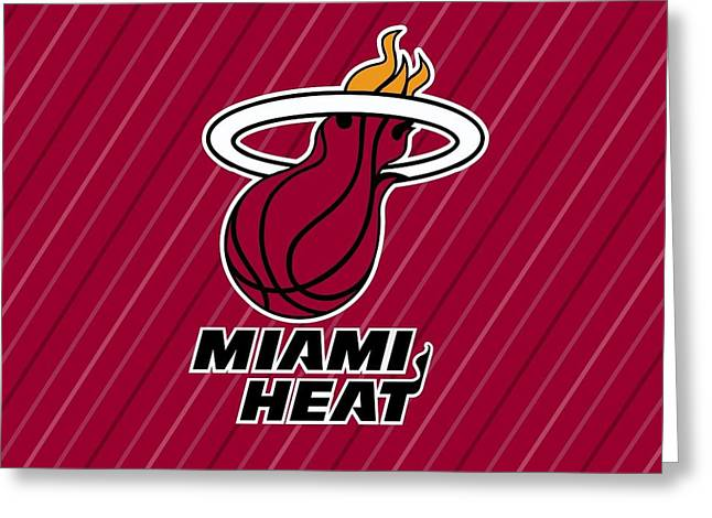 25827 Sports Miami Heat  Greeting Card by F S