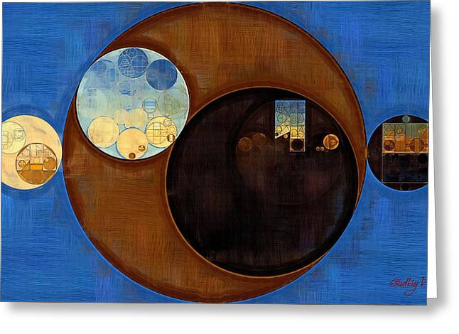 Abstract Painting - Smoky Black Greeting Card by Vitaliy Gladkiy