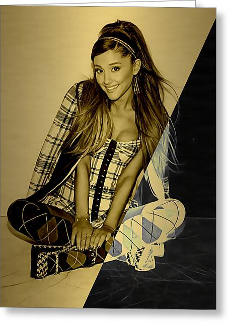 Ariana Grande Collection Greeting Card by Marvin Blaine