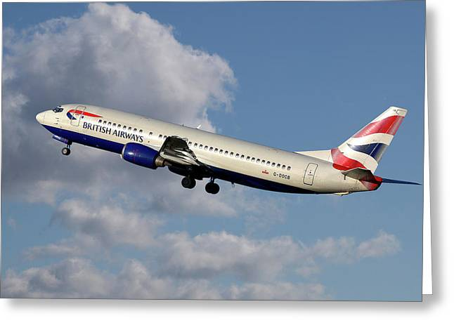British Airways Boeing 737-400 Greeting Card