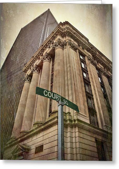 Greeting Card featuring the photograph 26 Court Street - Boston Architecture by Joann Vitali