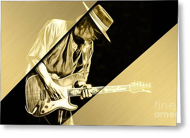 Stevie Ray Vaughan Collection Greeting Card
