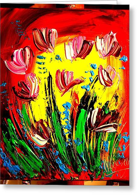 Tulips Greeting Card by Mark Kazav