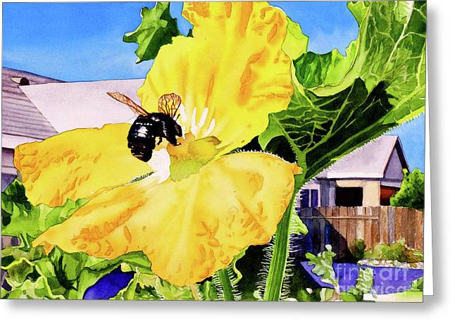 #261 Bumble Bee Greeting Card by William Lum