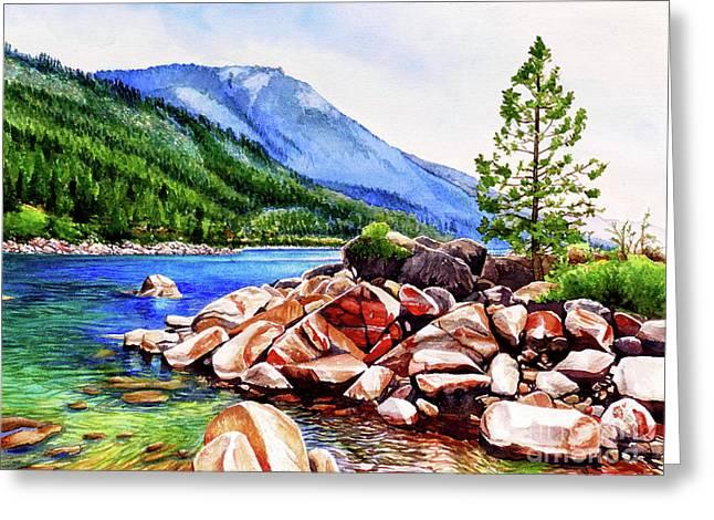 #262 Crystal Bay 1 Greeting Card by William Lum