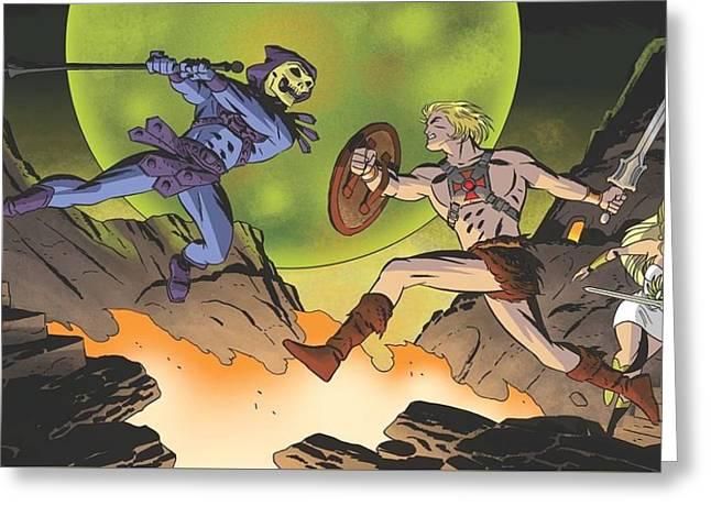 26618 He Man Skeletor Comics Greeting Card