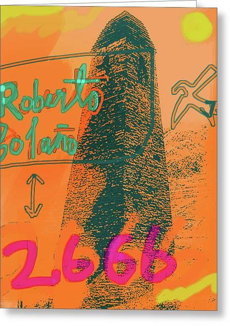2666 Roberto Bolano  Poster  Greeting Card
