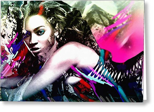 Beyonce Knowles Greeting Card