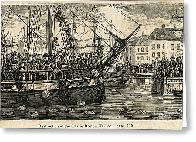 Boston Tea Party 1773 Greeting Card by Granger