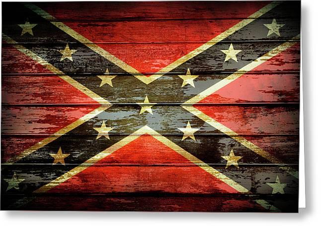 Confederate Flag 2 Greeting Card