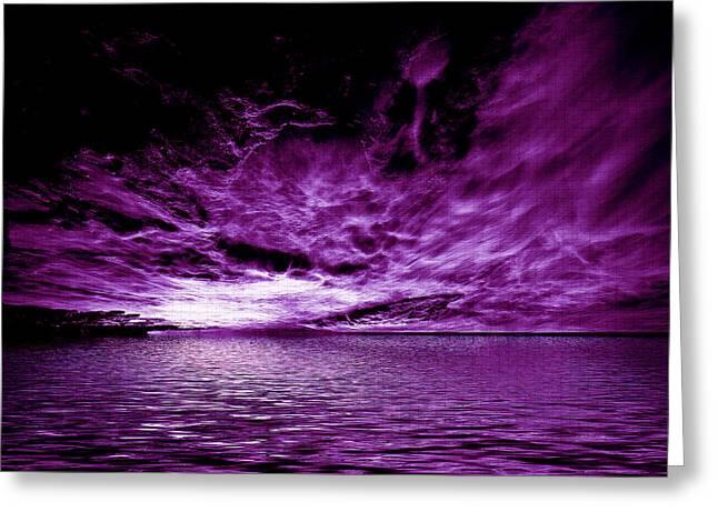 Heavens Waves - Sri Yantra Greeting Card