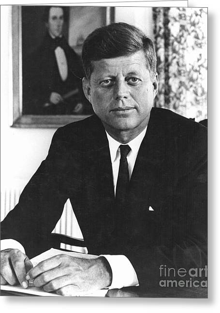 20th President Greeting Cards - John F Kennedy (1917-1963) Greeting Card by Granger