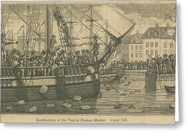 Boston Tea Party, 1773 Greeting Card by Granger