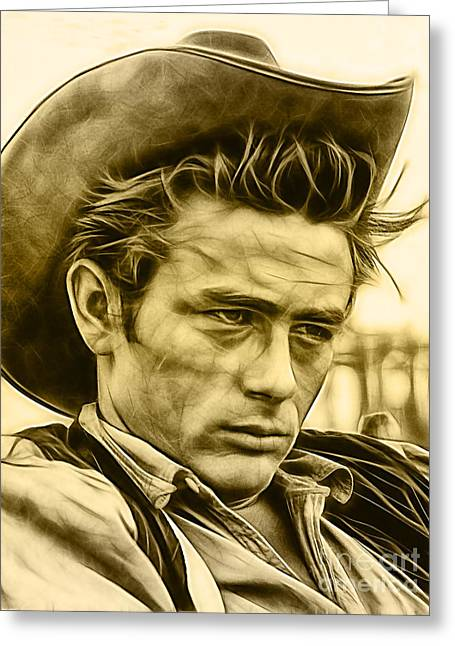 James Dean Collection Greeting Card by Marvin Blaine