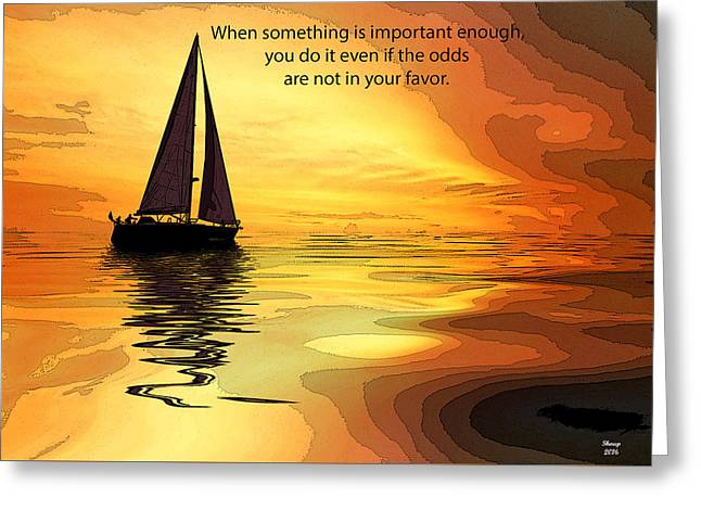 Motivational Quotes Greeting Card