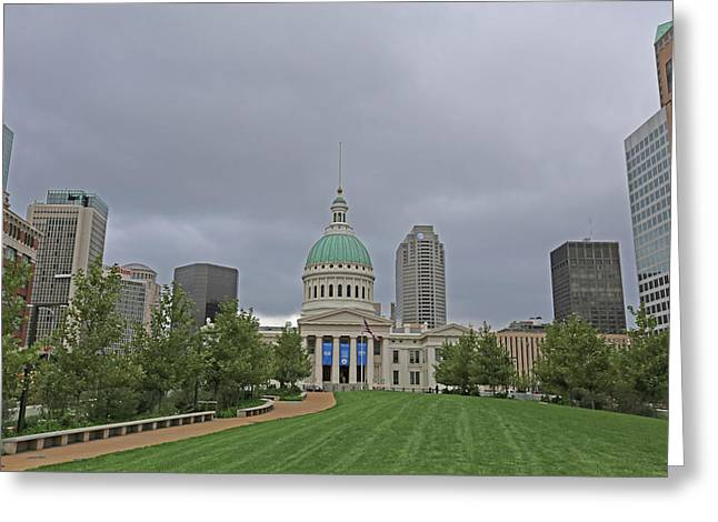 Old Courthouse Greeting Card by Michael Munster