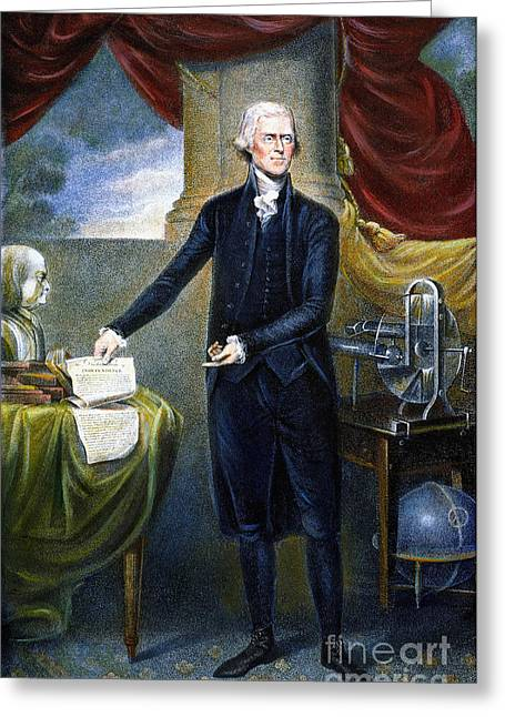 Tiebout Greeting Cards - Thomas Jefferson (1743-1826) Greeting Card by Granger