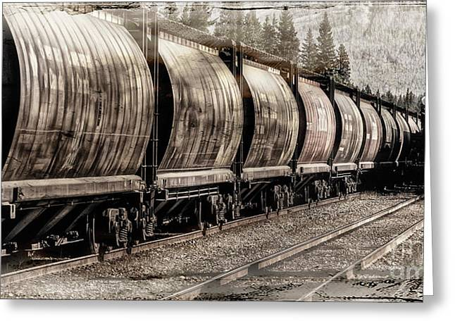 Greeting Card featuring the photograph 2816 Empress Passing Grain by Brad Allen Fine Art