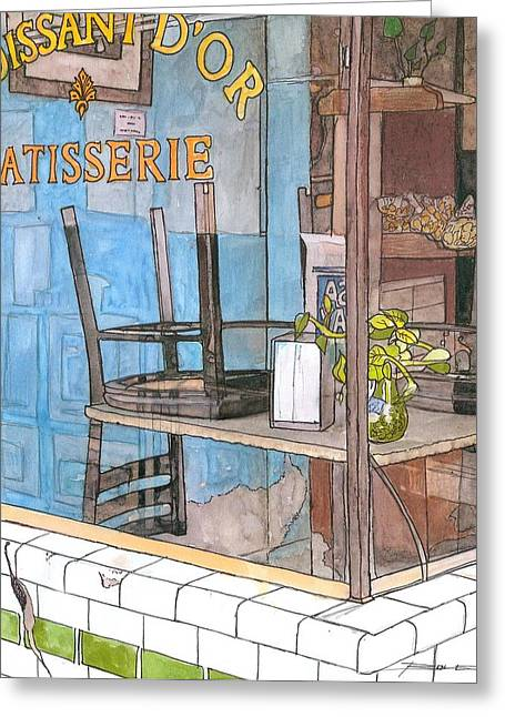 29  Croissant D'or Patisserie Greeting Card by John Boles