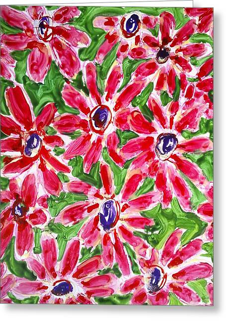 Divine Flowers Greeting Card by Baljit Chadha