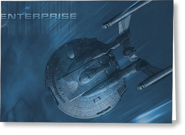 29402 Star Trek Enterprise Nx01 Greeting Card