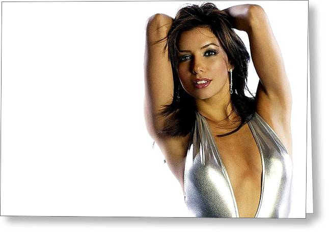 2949 Celebrity Eva Longoria  Greeting Card by F S