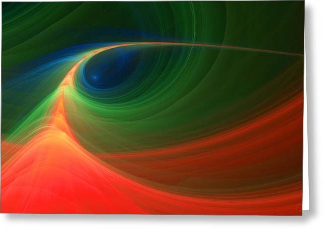 Generative Abstract Greeting Cards - 295 Greeting Card by Lar Matre