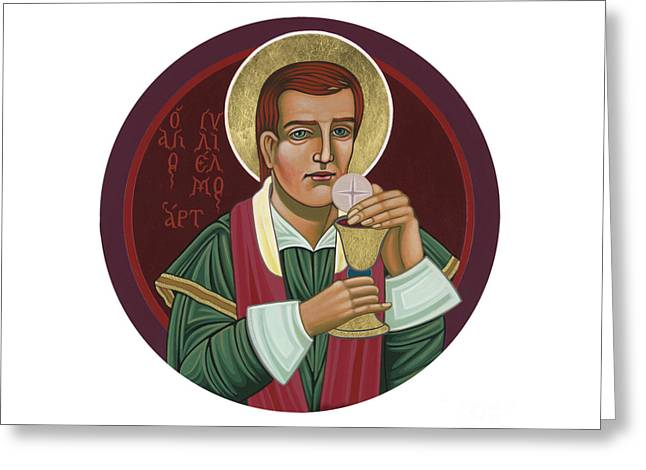 Greeting Card featuring the painting 297 Holy Martyr Blessed William Hart -1583 by William Hart McNichols