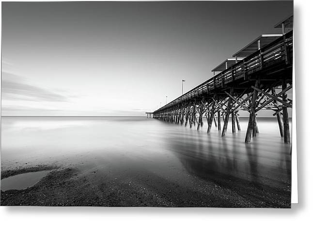 2nd Ave Pier Sunset Greeting Card
