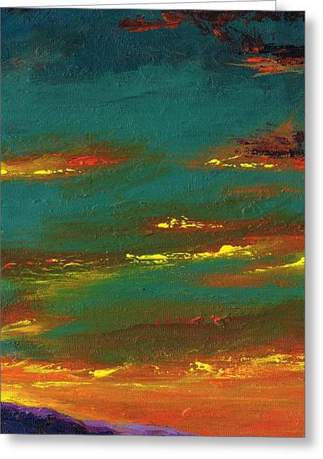 Arizona Western Art Greeting Cards - 2nd In A Triptych Greeting Card by Frances Marino