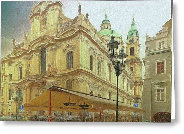 2nd Work Of St. Nicholas Church - Old Town Prague Greeting Card