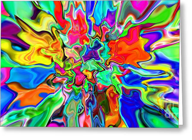 2x1 Abstract 311 Greeting Card by Rolf Bertram