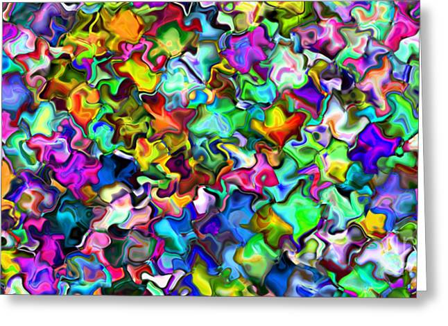 2x1 Abstract 314 Greeting Card by Rolf Bertram
