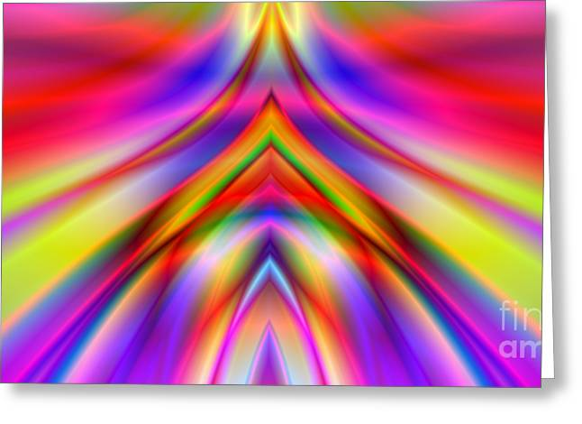 2x1 Abstract 337 Greeting Card by Rolf Bertram
