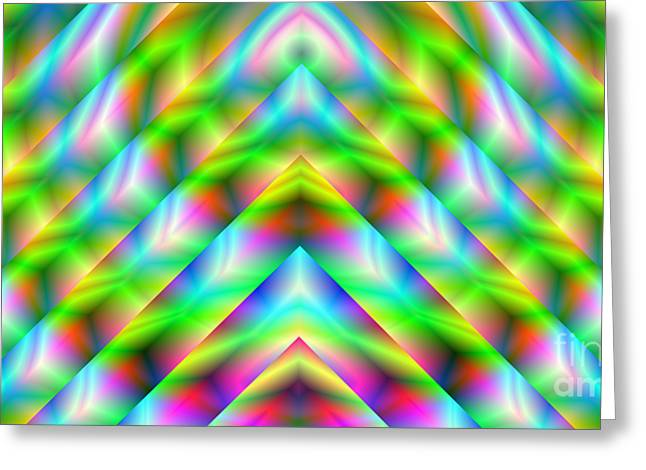 2x1 Abstract 341 Greeting Card by Rolf Bertram